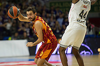 Real Madrid´s Marcus Slaughter and Galatasaray´s Arslan during 2014-15 Euroleague Basketball match between Real Madrid and Galatasaray at Palacio de los Deportes stadium in Madrid, Spain. January 08, 2015. (ALTERPHOTOS/Luis Fernandez) /NortePhoto /NortePhoto.com