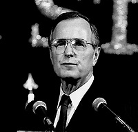 ***FILE PHOTO*** George H.W. Bush Has Passed Away<br /> Chicago, Illinois, USA, August 22,  1988<br /> Vice-President George H.W. Bush addresses the Veterans of Foreign Wars at their convention in Chicago <br /> CAP/MPI/MRN<br /> &copy;MRN/MPI/Capital Pictures