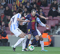 16.01.2013 Barcelona, Spain. Spanish Cup, quarter-final first leg. Picture show  Andres Iniesta in action during game FC Barcelona v Malaga at Camp Nou.