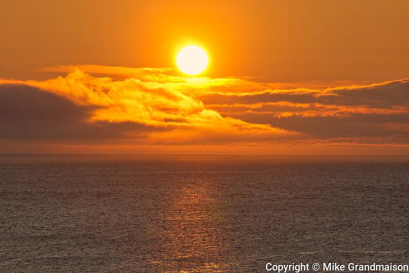 Sunrise on St. Lawrence Bay. Cape Breton Island.<br />Bay St. Lawrence<br />Nova Scotia<br />Canada