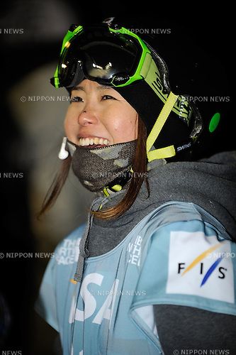 Ayana Onozuka (JPN), DECEMBER 20, 2013 - Freestyle Skiing : Ayana Onozuka of Japan smiles after the Freestyle FIS World Cup Women's Halfpipe final in Copper Mountain Colorado, United States. (Photo by Hiroyuki Sato/AFLO)