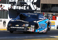 Jul. 25, 2014; Sonoma, CA, USA; NHRA pro stock driver Jonathan Gray during qualifying for the Sonoma Nationals at Sonoma Raceway. Mandatory Credit: Mark J. Rebilas-