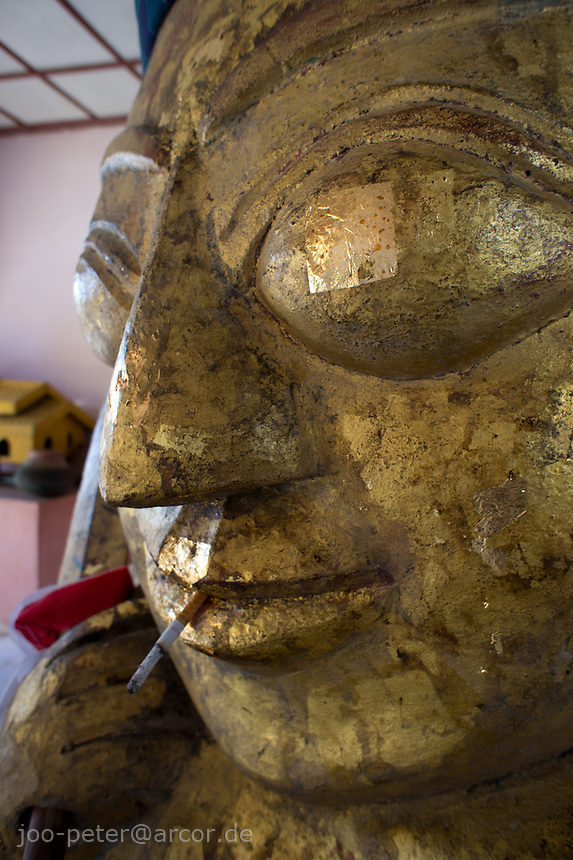nat spirit sculpture in Shwezigon Pagoda, village Niaung U, Bagan archeological site, Myanmar