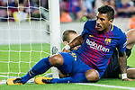 Jose Paulo Bezerra Maciel Junior, Paulinho, (front) of FC Barcelona reacts during the La Liga match between FC Barcelona vs RCD Espanyol at the Camp Nou on 09 September 2017 in Barcelona, Spain. Photo by Vicens Gimenez / Power Sport Images