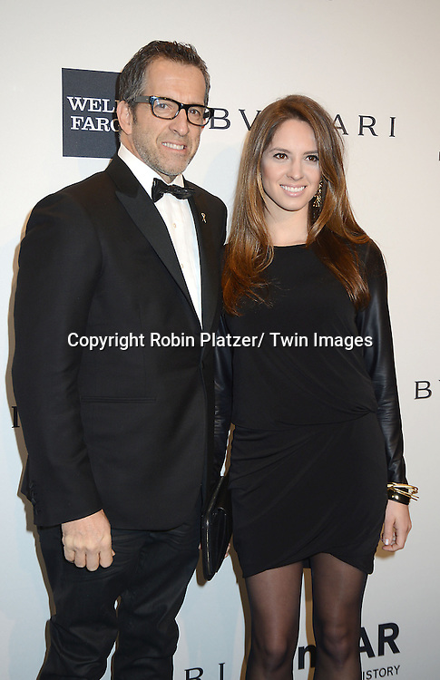Kenneth Cole and daughter Emily attends the amfAR New York Gala on February 5, 2014 at Cipriani Wall Street in New York City.