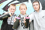 Local boys Colin Healy, Shane Hoey and Andrew McKenna at the 2010 Graffiti Jam under the Bridge of Peace in Drogheda. ..Picture Jenny Matthews/Newsfile.ie