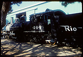 Rear 3/4 &amp; side view of K-27 #464.<br /> D&amp;RGS  Knotts Berry Farm, Buena Park, CA