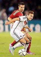 Spain's Cesar Azpilicueta (b) and Germany's Gotze during international friendly match.November 18,2014. (ALTERPHOTOS/Acero) /NortePhoto<br /> NortePhoto.com