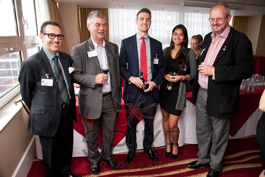 Pictured from left are Nicholas Max of CHC Land Rover, Trevor Harris of Pedegree Automotive Solutions, Richard Reed and Isadora Brandåo of John Pye Property and William Randall of Logistics & Warehouse Services