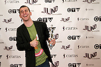Michael Topf, also known as DJ Brace, winner of the 2009 Juno for Instrumental Album of the Year, poses on the media wall, Saturday March 28th, 2009, at the Westin Bayshore Hotel in Vancouver.  (Scott Alexander/pressphotointl.com)