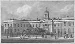 Asylum for Female Orphans, Westminster, engraving 'Metropolitan Improvements, or London in the Nineteenth Century' London, England, UK 1828 , drawn by Thomas H Shepherd
