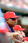 5 September 2005: Frank Robinson, Hall of Fame Manager for  the Washington Nationals, watches his team play against the Florida Marlins. The Nationals defeated the Marlins 5-2 at RFK Stadium in Washington, DC, maintaining a close race for the NL Wildcard spot. Mandatory Photo Credit: Ed Wolfstein.