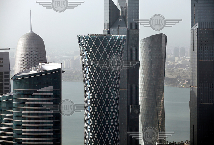 Skyscrapers in Doha.