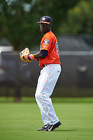 GCL Astros outfielder Daz Cameron (54) warms up in between innings during a game against the GCL Braves on July 23, 2015 at the Osceola County Stadium Complex in Kissimmee, Florida.  GCL Braves defeated GCL Astros 4-2.  (Mike Janes/Four Seam Images)