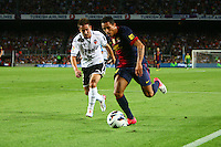 02.09.2012 SPAIN -  La Liga 12/13 Matchday 3th  match played between F.C. Barcelona vs Valencia C.F. (1-0) at Nou Camp stadium. The picture show  Adrano Correia Claro (Brazilian defender of Barcelona)
