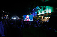 MIAMI, FL - FEBRUARY 2: Fans watch the Super Bowl half show XLIV Live at the beach on February 2, 2020 in Miami, USA. (Photo by Kena Betancur/VIEWpress/Getty Images)