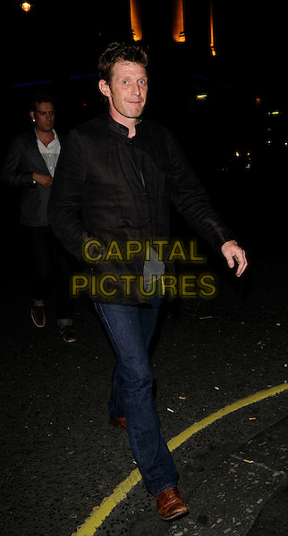 JASON FLEMYNG .At Jason Statham's party, Planet Hollywood, London, England, UK, August 15th 2009..full length black jacket jeans brown shoes .CAP/CAN.©Can Nguyen/Capital Pictures