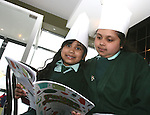 Geyaamalika and Rohini at the Launch of The Fatima Girls NS Cookery Book in the Eastern Seaboard Restaurant. ..Photo NEWSFILE/Jenny Matthews.(Photo credit should read Jenny Matthews/NEWSFILE)....This Picture has been sent you under the condtions enclosed by:.Newsfile Ltd..The Studio,.Millmount Abbey,.Drogheda,.Co Meath..Ireland..Tel: +353(0)41-9871240.Fax: +353(0)41-9871260.GSM: +353(0)86-2500958.email: pictures@newsfile.ie.www.newsfile.ie.FTP: 193.120.102.198.