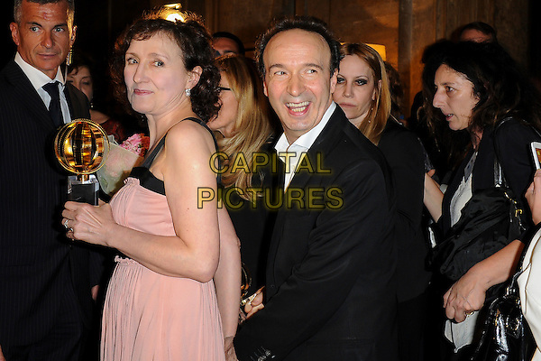 ROME, ITALY - JUNE 09: Roberto Benigni and wife Nicoletta Braschi attend Globi D'Oro 2016 Awards Ceremony at French Embassy Palazzo Farnese on June 9, 2016 in Rome, Italy. <br /> *Not for sale in Italy, Sweden, Norway*<br /> CAP/MSX<br /> &copy;MSX/Capital Pictures
