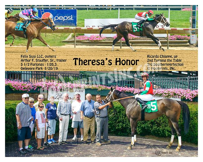 Teresa's Honor winning at Delaware Park on 7/20/17