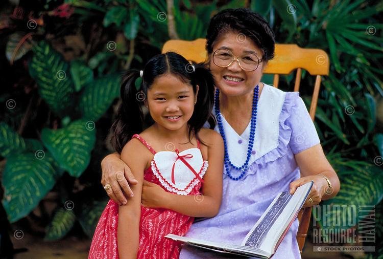 Japanese American Grandmother and grandaughter