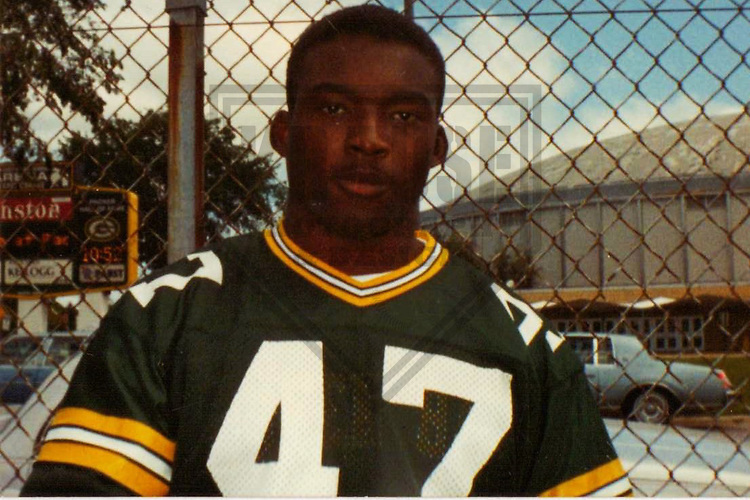GREEN BAY - July 1989: Ben Jessie (47) of the Green Bay Packers during Fan Photo Day in July, 1989 in Green Bay, Wisconsin. (Photo by Brad Krause)