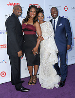 16 July 2016 - Pacific Palisades, California. Curtis Conway, Laila Ali, Holly Robinson Peete, Rodney Peete. Arrivals for HollyRod Foundation's 18th Annual DesignCare Gala held at Private Residence in Pacific Palisades. Photo Credit: Birdie Thompson/AdMedia