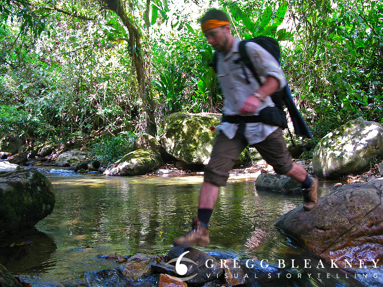"A hiker en route to the ""Lost City"" - Ciudad Perdida Trail - Colombia"