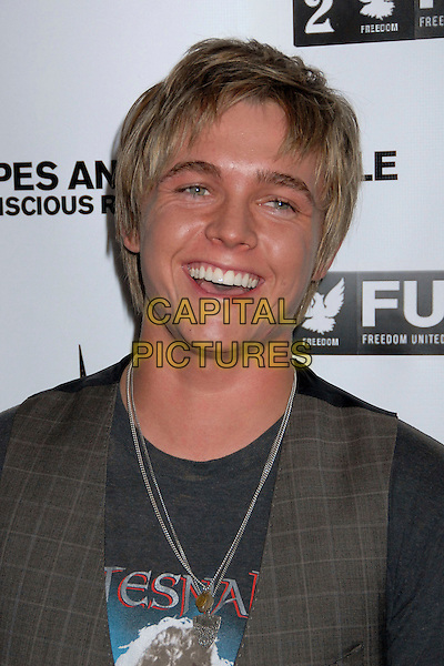 JESSE McCARTNEY.Grand Opening of The Beach On Sunset Restaurant and Lounge, West Hollywood, California, USA..August 22nd, 2007.headshot portrait smiling laughing .CAP/ADM/BP.©Byron Purvis/AdMedia/Capital Pictures