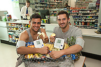 ASDA Old Mill Lane's new pharmacy has opened, two of the first visitors taking advantage of a free blood pressure check were Mansfield Town players Ryan Tafazolli (left) and Andy Owens