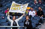 Stockholm 2015-07-30 Fotboll Kval Uefa Europa League  AIK - Atromitos FC :  <br /> AIK-supporter med en flagga med text &quot; Kenny Pavey &quot; under matchen mellan AIK och Atromitos FC <br /> (Foto: Kenta J&ouml;nsson) Nyckelord:  AIK Gnaget Tele2 Arena UEFA Europa League Kval Kvalmatch Atromitos FC Grekland Greece supporter fans publik supporters