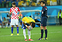 (L to R) <br /> Neymar (BRA), <br /> Yuichi Nishimura (Referee), <br /> JUNE 12, 2014 - Football /Soccer : <br /> 2014 FIFA World Cup Brazil <br /> Group Match -Group A- <br /> between Brazil 3-1 Croatia <br /> at Arena de Sao Paulo, Sao Paulo, Brazil. <br /> (Photo by YUTAKA/AFLO SPORT)