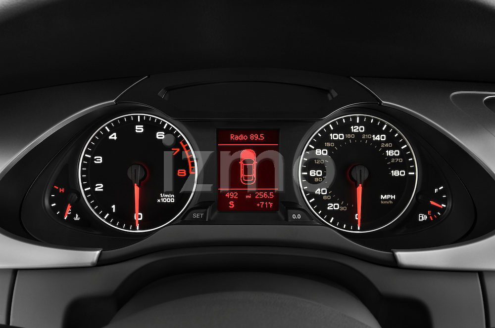Instrument panel close up detail view of a 2011 Audi A4 Sedan