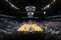Dec. 07, 2010; Charlottesville, VA, USA; The Virginia Cavaliers host the Radford Highlanders at the John Paul Jones Arena. Photo/Andrew Shurtleff