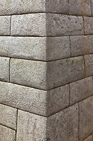 "Detailed stone masonry. Machu Picchu, the ancient ""lost city of the Incas"", 1400 CA, 2400 meters, discovered by Hiram Bingham in 1911."