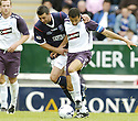 21/07/2007       Copyright Pic: James Stewart.File Name : sct_jspa13_falkirk_v_rangers.ALEX TOTTEN TESTIMONIAL.PEDRO MOUTINHO GET  HOLD OF BRAHIM HENDANI.....James Stewart Photo Agency 19 Carronlea Drive, Falkirk. FK2 8DN      Vat Reg No. 607 6932 25.Office     : +44 (0)1324 570906     .Mobile   : +44 (0)7721 416997.Fax         : +44 (0)1324 570906.E-mail  :  jim@jspa.co.uk.If you require further information then contact Jim Stewart on any of the numbers above.........