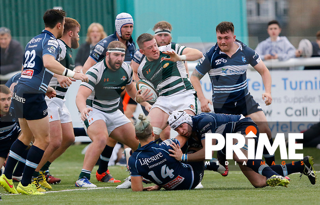 Ealing's Arthur Ellis in action during the Greene King IPA Championship match between Ealing Trailfinders and Bedford Blues at Castle Bar , West Ealing , England  on 29 October 2016. Photo by Carlton Myrie / PRiME Media