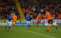 16th November 2019; Tannadice Park, Dundee, Scotland; Scottish Championship Football, Dundee United versus Queen of the South; Louis Appere of Dundee United fires in a shot - Editorial Use