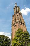 Gothic church clock tower, Onze Lieve Vrouwetoren, Amersfoort, Netherlands