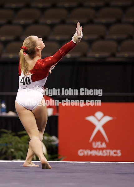 03/02/07 - Photo By John Cheng - Tyson American Cup Qualifying Round - Samantha Peszek of US Team.