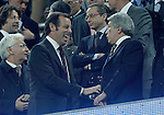 FC Barcelona's President Sandro Rosell and Atletico de Madrid's Enrique Cerezo (r) during La Liga match.December 16,2012. (ALTERPHOTOS/Acero)