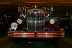 An antique Mack fire truck is seen at night in the Auxiliary garage of the Clifton Heights Fire Company in Clifton Heights Pennsylvania