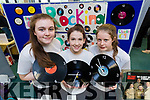 Maggie O'Callaghan, Leah Pidgeon and Hilary O'Connor, students attending Presentation Secondary School Castleisland pictured with their project Rocking Records, at IT Tralee Student Enterprise awards on Friday last.