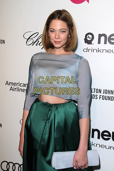 WEST HOLLYWOOD, CA - March 02: Analeigh Tipton at the 22nd Annual Elton John AIDS Foundation Oscar Viewing Party, Private Location, West Hollywood,  March 02, 2014.  <br /> CAP/MPI/JO<br /> &copy;Janice Ogata/MediaPunch/Capital Pictures
