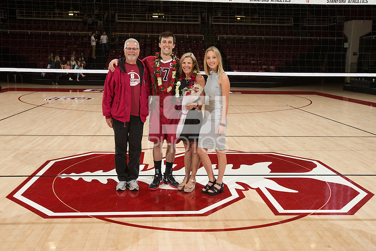 STANFORD, CA - Saturday, April 2, 2016: Stanford beats Long Beach State, 3-1, at Maples Pavilion.