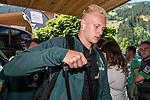 04.07.2019, DasPosthotel, Zell am Ziller, AUT, TL Werder Bremen Zell am Ziller / Zillertal Tag 00<br /> <br /> im Bild<br /> Julian Rieckmann (Werder Bremen II #21), <br /> bei Ankunft der Spieler / Trainerteam am Teamhotel, <br /> <br /> Foto © nordphoto / Ewert
