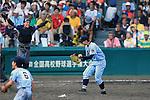 (L-R) Ren Nagakura, Shinnosuke Ogasawara, AUGUST 20, 2015 - Baseball : /Ren Nagakura (L) of Tokai University Sagami celebrates with Shinnosuke Ogasawara (R) after winning the Japanese High School Baseball Championship final match Tokai University Sagami 10-6 Sendai Ikuei at Hanshin Koshien Stadium in Nishinomiya, Hyogo, Japan. (Photo by Katsuro Okazawa/AFLO)