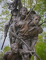 Gettysburg National Military Park, PA<br /> Detail of the North Carolina monument on Seminary Ridge, Gutzon Borglum sculptor