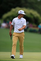Thorbjorn Olesen (DEN) on the 16th green during the 2nd round at the The Masters , Augusta National, Augusta, Georgia, USA. 12/04/2019.<br /> Picture Fran Caffrey / Golffile.ie<br /> <br /> All photo usage must carry mandatory copyright credit (© Golffile | Fran Caffrey)