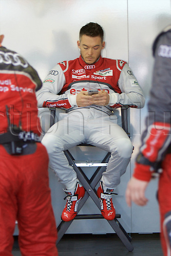 28.03.2015.  Le Castellet, France. World Endurance Championship Prologue Day 2. Audi Sport Team Joest driver Andre Lotterer relaxes between sessions.